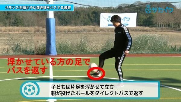 【初心者向け】 浮き球が来てもバランスを崩さずパスが出来るようになる練習|サッカー3分間トレーニング