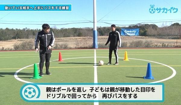 【初心者向け】 動いている味方にパスを出せるようになる練習 サッカー3分間トレーニング