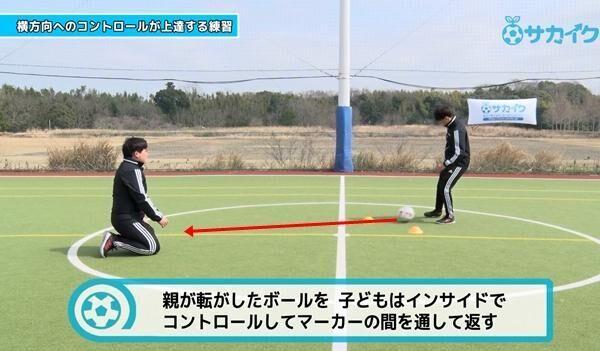 【初心者向け】横方向へのボールコントロールが上達する練習 サッカー3分間トレーニング