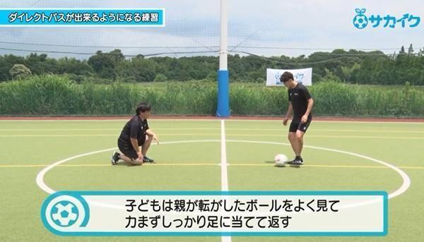 【サッカートレーニング】ダイレクトでパスを出せるようになる練習