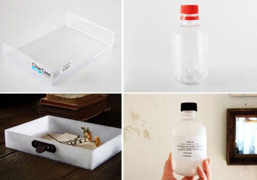 アクリルやプラスチック