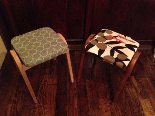 簡単DIY!座面張替えとIKEAのスツールセットで作る「コンソールテーブル」