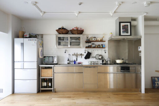 横長の見せるキッチン