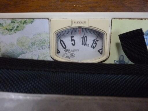 スクールザックの重さ