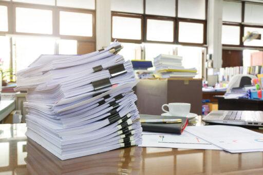 書類デスク