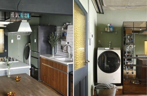 キッチンに洗濯機