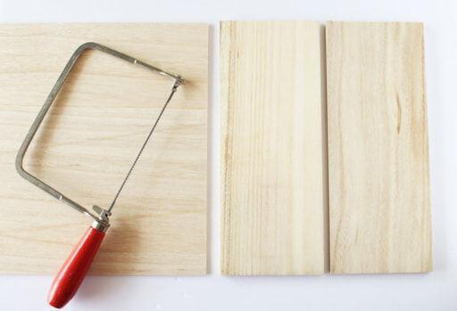 木板をカット