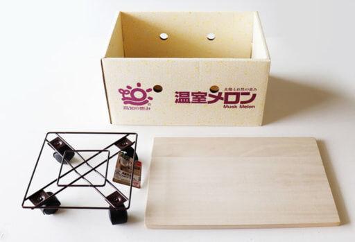 段ボール箱、桐まな板、角型花台キャスター付