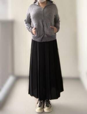 【ユニクロ】腰周りスッキリ&ラクチン!上品で高見えする神スカート
