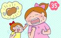 肉を食べると歯が抜ける双子間のジンクス【双子を授かっちゃいましたヨ☆ 第35話】