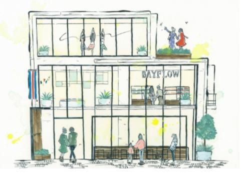『BAYFLOW』が吉祥寺に初のカフェ・ヨガスタジオ併設の旗艦店にオープン