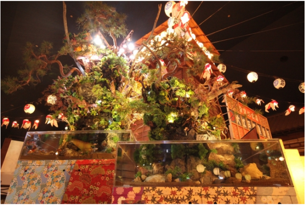 今年最大級のイベント「大江戸温泉金魚物語」開催中