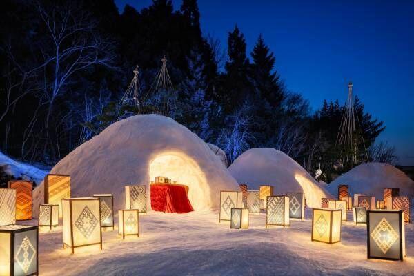星野リゾートで、小さな家のような「かまくら」を体験