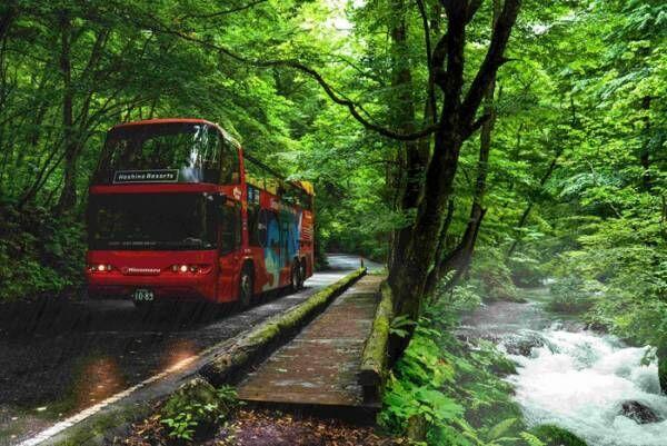 奥入瀬渓流ホテルで開放感抜群「雨の絶景渓流オープンバスツアー」を開催