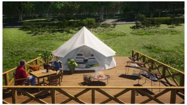 「スパリゾートハワイアンズ」がグランピング施設をオープン