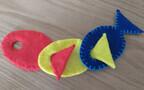 指先遊び手作り知育玩具「お魚フエルト」
