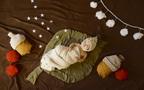 赤ちゃんの写真に使える! 毛布をリメイクした葉っぱ型マットの作り方
