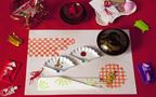 新年の飾りつけを子どもと一緒に楽しもう! 消しゴムハンコでつくるランチョンマット