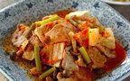 今日の献立はピリリと辛い「豚キム肉豆腐」