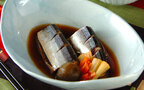今日の献立はコクと風味がプラスされた「サンマの梅酒煮」