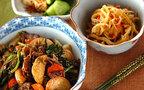 今日の献立は、味付けは塩コショウとウスターソースのみ!春菊の苦みがアクセントの「里芋と牛肉の炒め物」