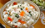 今日の献立は野菜も一緒にとれるヘルシーな「大根とニンジンのご飯」