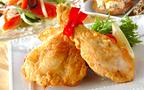 今日の献立はクリスマスはやっぱり定番の「骨付き鶏肉のフライ」
