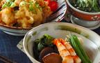 今日の献立は常備しておくと便利な高野豆腐で「高野豆腐とエビの煮物」