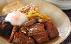 今日の献立は厚切り肉が美味しすぎる「すき焼き風ステーキ」