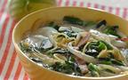 寒い日はほっこり温まろう! ベーコンとほうれん草のスープパスタ