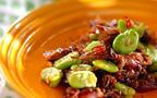 旬を味わうコンビネーション! ソラ豆とホタルイカのペペロンチーノ