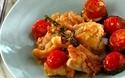 夏らしい鮮やかな色味のおしゃれメニュー、鶏とズッキーニのガーリックソテー