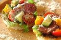 10分で完成! 特製ソースdeローストビーフと野菜のオープンサンド