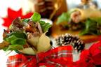 クリスマスの定番をアレンジ! ローストチキンとベビーリーフのクレープ