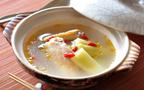 仕上げは土鍋におまかせ! 余熱で仕上げる、サムゲタン風スープ