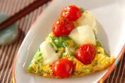 とろ~りチーズとの相性もたまらない! プチトマトのミニオムレツ
