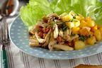 メープルマスタードソースが絶妙! 「キノコと揚げジャガイモのホットサラダ」