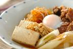 甘辛味が食欲そそる! ボリューム満点「温泉卵のせ肉豆腐」
