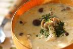 寒い日に飲みたい! 「キノコたっぷり豆乳スープ」