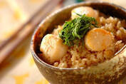 ホタテバター×タラコご飯が絶品!「タラコとホタテの炊き込みご飯」