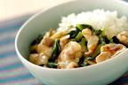 ホタテ缶で本格中華の味わいに! 「小松菜とホタテのあんかけご飯」