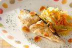 カリカリのニンニクチップが食欲をそそる!「サワラのガーリックステーキ」