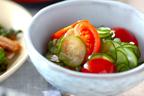あともう一品にぴったり! 彩りきれいな「キュウリとプチトマトの和え物」
