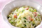 顆粒のコーンスープの素で素早く作れる「ブロッコリーのコーンスープリゾット」