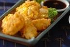 ふわっと優しい味「トウモロコシと豆腐の落とし揚げ」