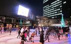赤坂サカスの、幻想的なスケートリンク