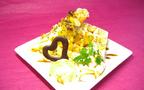 ハートのチョコレートをデコレーション、米粉を使ったカラダにやさしいデザート