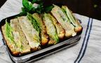 桜海老ポテサラのサンドイッチ、『朝時短』スタイル