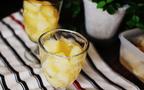 桃と日本酒のクラッシュゼリー、でヒンヤリほろ酔い