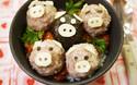 ミニブタのデコが可愛い! イタリア風ジューシー豚団子丼